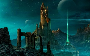 Picture the sky, the city, castle, the world, planet, the portal