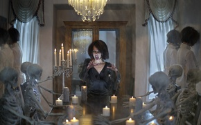 Picture halloween, spirit, death, bones, spooky, seance