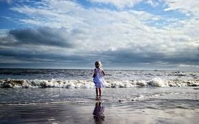 Picture sea, landscape, mood, girl