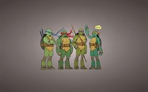 Picture the inscription, Rafael, TMNT, pizza, Raphael, Leonardo, Donatello, Donatello, Leonardo, Michelangelo, Teenage Mutant Ninja Turtles, …