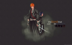 Wallpaper Anime, Bleach, Ichigo Kurosaki, Kuchiki Rukia, the new season
