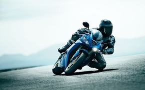 Picture turn, sportbike, helmet.protection
