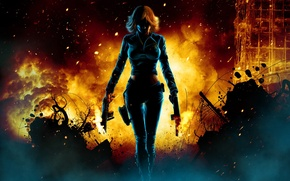 Picture animation, Black Widow, The Avengers, comic hero