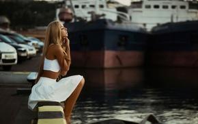 Picture sadness, girl, Marina, beautiful