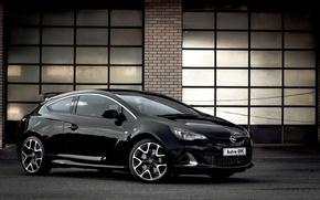 Picture Opel, black, astra, opc