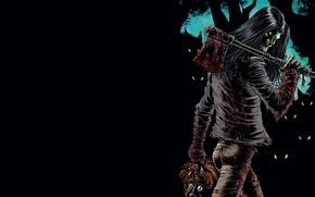 Picture axe, demonic, beheaded, humanoid creature