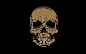 Picture death, skull, teeth, sake