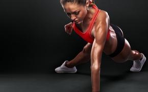 Wallpaper workout, fitness, sportswear, pushups