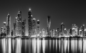 Picture reflection, Dubai, Metallic Marina