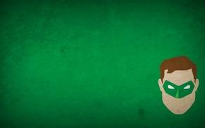 Wallpaper green, minimalism, superhero, green lantern