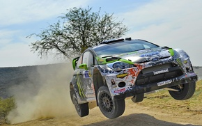 Picture Mexico, wrc, ford, mexico, rally, Ken Block, jump, fiesta, rally, Ken Block