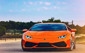 Picture Lamborghini, orange, Huracan