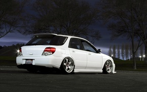 Picture ass, Subaru, Impreza, white, low, universa