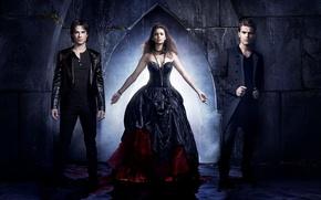 Picture water, wall, blood, the series, Nina Dobrev, Nina Dobrev, actors, The Vampire Diaries, Stefan, Elena, …