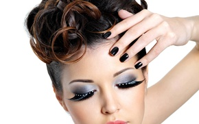 Picture face, eyelashes, style, hair, makeup