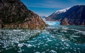 Picture mountains, ice, glacier, Alaska, Alaska, Glacier Bay National Park, Glacier Bay