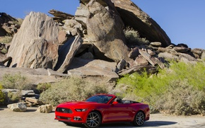 Picture stones, rocks, Mustang, Ford, Mustang, Ford, Convertible, 2014