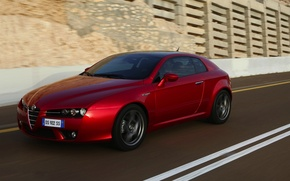 Picture road, movement, Alfa Romeo, Alfa Romeo, Brera, Brera