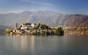 Picture Italy, Piedmont, Lagna, San Giulio, Orta Lake
