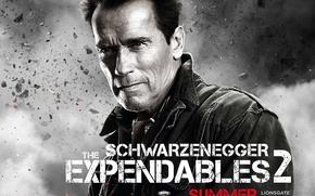 Wallpaper The Expendables 2, The expendables 2, Arnold Schwarzenegger, Arnold Schwarzenegger, Trench