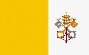 Picture Flag, The Vatican, Keys, Crown, Vatican