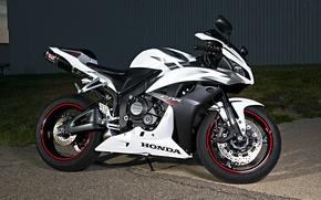 Picture white, black, motorcycle, white, honda, black, Honda, super sport, сбр600рр, cbr600rr, super sport