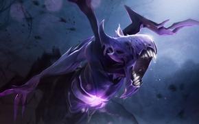 Picture teeth, art, Dota 2, elemental, Bane, nightmare