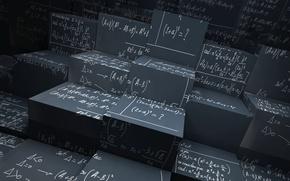 Picture science, geometry, architecture, math, cubism, statistics, equation, Cubism equation