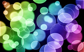 Wallpaper rainbow, abstraction, circles, purple, blue, white, yellow, blue, green, Gimp, pattern, light, abstract, yellow, white, ...