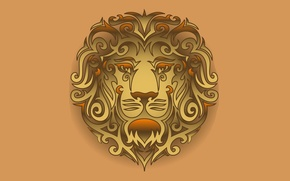Picture Leo, head, tribal, lion, head