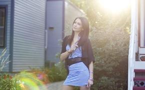 Picture look, model, brunette, beauty, Megan Lyn