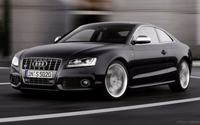 Picture road, audi, speed