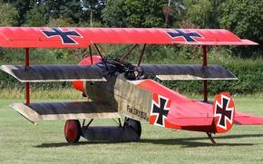 Wallpaper easy, fighter, Triplane, maneuverable, replica, Fokker Dr. 1