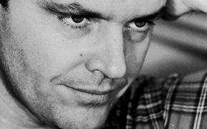 Picture eyes, look, Jack Nicholson, Jack Nicholson, actor