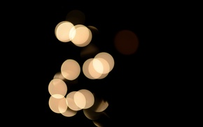 Picture light, circles, color, twilight