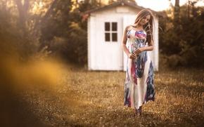 Picture summer, girl, dress, the beauty, Viktoria Seekircher