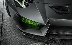 Picture Lamborghini, HAMANN, LP700-4, Aventador, Ligth, Limited, 2014, Green, Front, Bumper