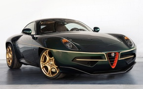 Picture green, Alfa Romeo, front, Flying Disc, alfa