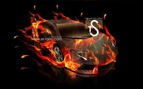 Picture Lamborghini, Car, Fire, Aventador, el Tony Cars, Fire