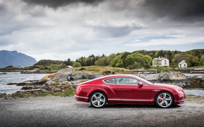 Picture red, Bentley, Continental, Speed, Bentley, continental, 2015