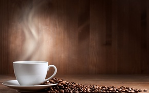 Picture table, coffee, grain, Cup, white, saucer