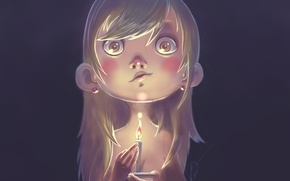 Picture figure, candle, girl, Candle