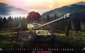 Picture Game, World of Tanks, T26E4, FuriousGFX