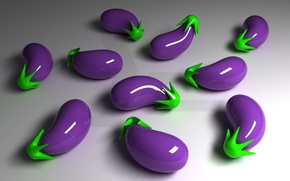 Wallpaper purple, reflection, 3-D, eggplant