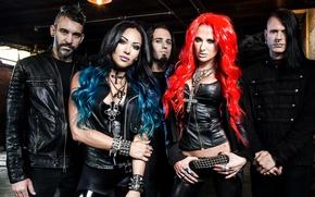Picture group, Metal, Rock, musicians, Butcher Babies