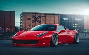 Picture City, Ferrari, Red, 458, Body, Front, Italia, Kit, Liberty, Walk