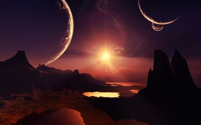 Picture stars, cosmos, planets