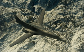 Picture flight, landscape, Lancer, bomber, B-1B, strategic, supersonic