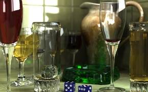 Wallpaper style, glass, wine