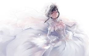 Wallpaper hyuga hinata, wedding, naruto, dress, art